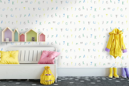 Dutch Wallcoverings Make Believe Alphabet 12561