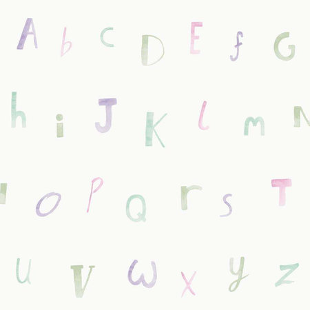 Dutch Wallcoverings Make Believe Alphabet 12562