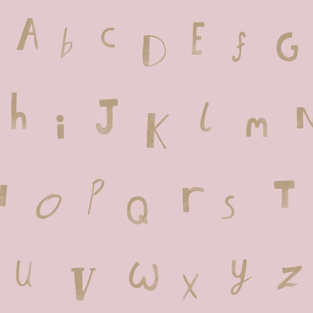 Dutch Wallcoverings Make Believe Alphabet 12563