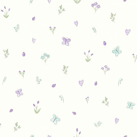 Dutch Wallcoverings Make Believe Butterfly Garden 12471