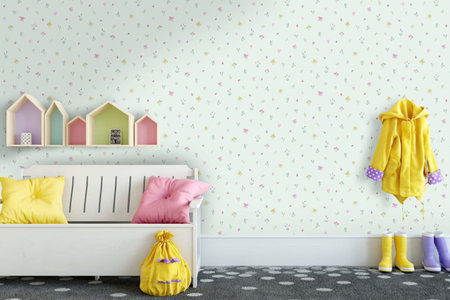 Dutch Wallcoverings Make Believe Butterfly Garden 12472