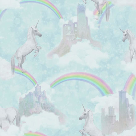 Dutch Wallcoverings Make Believe Unicorns 12481