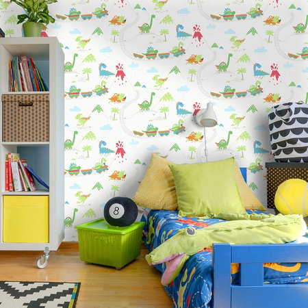 Dutch Wallcoverings Make Believe Dino Town 12530