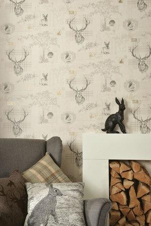 Dutch Wallcoverings Imaginarium hert/konijn 98012