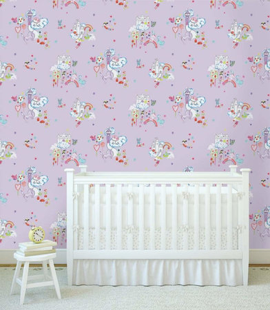Dutch Wallcoverings Make Believe Unicorn and Castles 12219