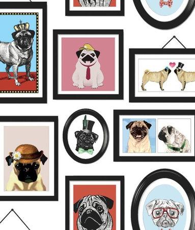 Dutch Wallcoverings Imaginarium A Pug's Life 11360