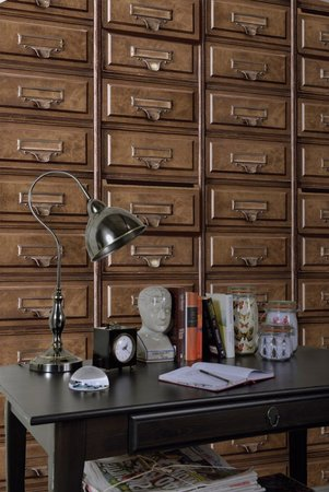 Dutch Wallcoverings Imaginarium Vintage Drawers 11970
