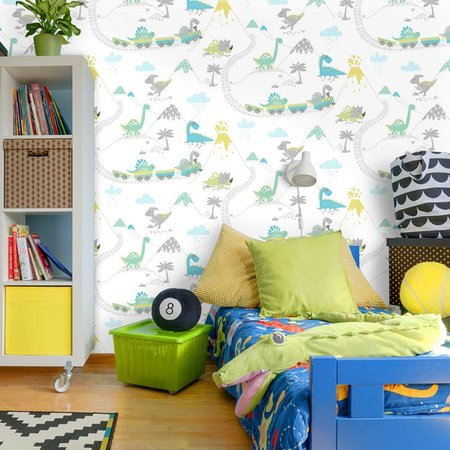 Dutch Wallcoverings Make Believe Dino Town 12531