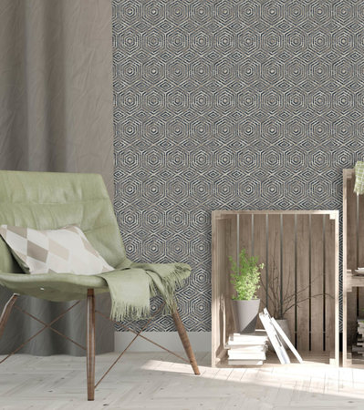 Dutch Wallcoverings Hexagone L606-01