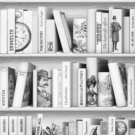 Dutch Faux Semblant behang L105-07 Vintage Bibliotheek