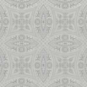 Zilver behang 529708