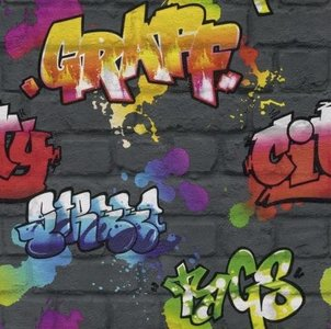 Kids Club 237801 Graffiti behang