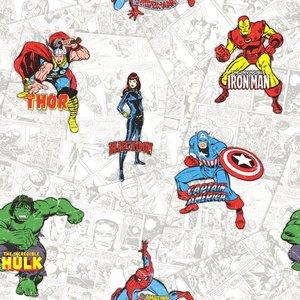 marvel heroes  papier behang