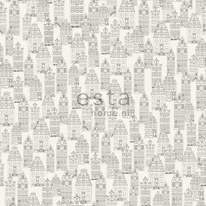 Esta Home Denim & Co. Amsterdam houses black and white 137711