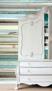 Esta Home Ginger behang PhotowallXL old wood blue 158004