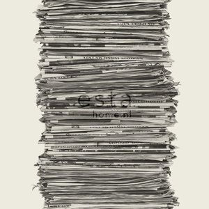 Esta Home Denim & Co. News papers black and white 137717
