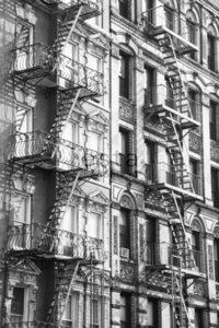 Esta Home Denim & Co. PhotowallXL NY fire ladders 157709