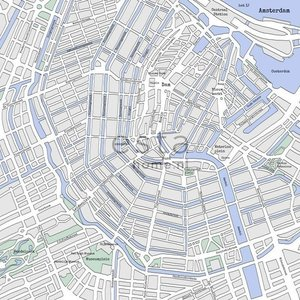 Esta Photowall XL 157712 Street map Amsterdam