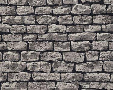 AS Creation Wood´n Stone 9079-29 Steenstructuur behang