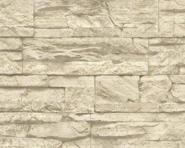 AS Creation Wood‹n Stone 7071-30 Steenstructuur behang
