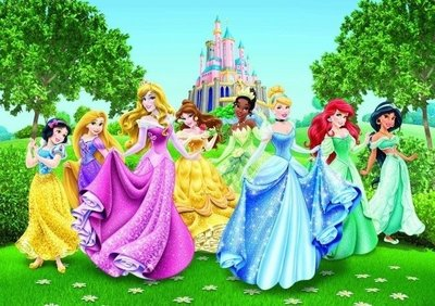 AG Design Fotobehang Disney Princesses FTD2207