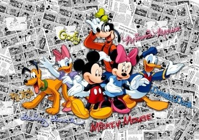 AG Design Fotobehang Disney Mickey on Dark Comicks FTD2225