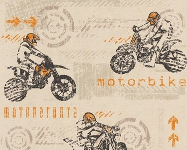 AS Creation Boys and Girls 93550-2 Moterbike behang