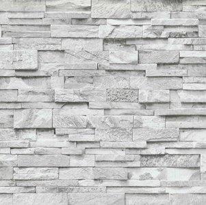 346129237 - Witte Stenen Behang