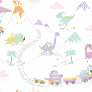Dutch Wallcoverings Make Believe Dino Town 12532