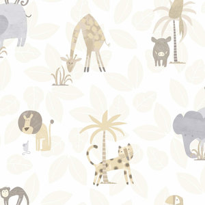 Dutch Wallcoverings Make Believe Jungle Friends 12540