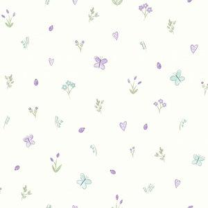 Dutch Wallcoverings Make Believe Butterfly Garden 12471