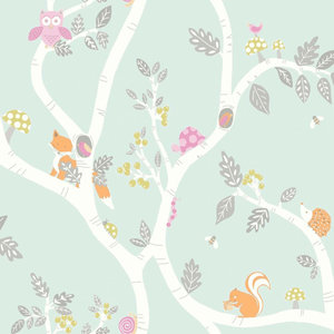 Dutch Wallcoverings Make Believe Woodland 12490